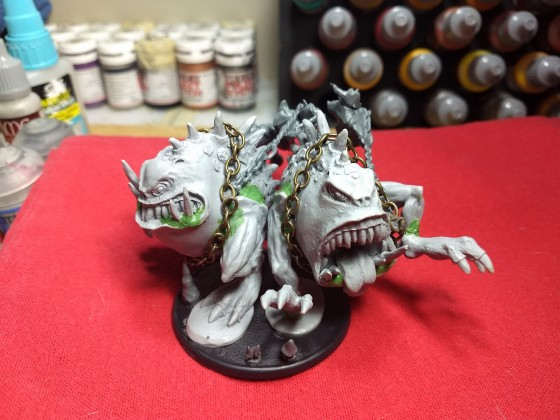 Gnasher Wrecking Team, made from resin gnasher/squig models and GW converted night goblin fanatics