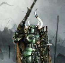 Warrior champion launching the assault