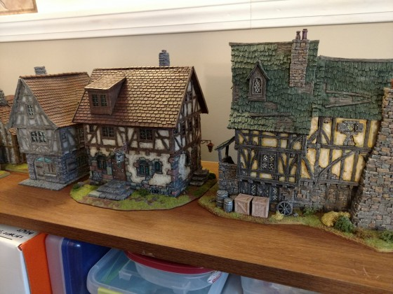 9th Age old village and castle keep