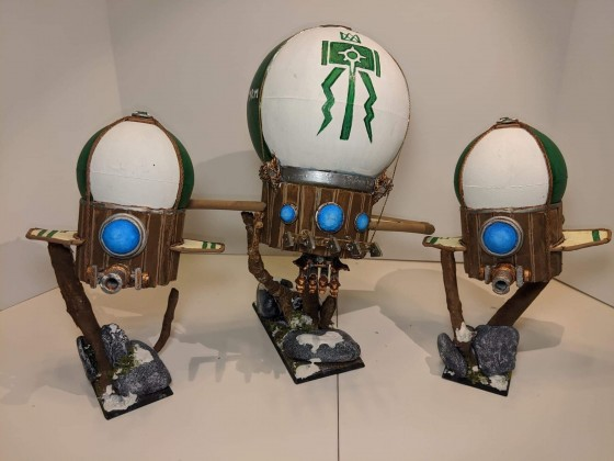 Dwarven Grudge Buster and Steam Copters