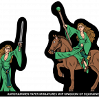 DAMSEL OF THE LADY WORK IN PROGRESS ANTOHAMMER PAPER MINIATURES :D