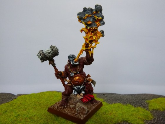 "Ogre Gorelock - Lavamancer Painted by Cédric ""Greengoffik"""