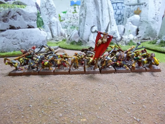 "Unit of Hill Goblins painted by Cédric ""Greengoffik"""