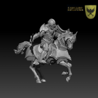 Mounted Vampire Clean Armor by Caballero Miniatures