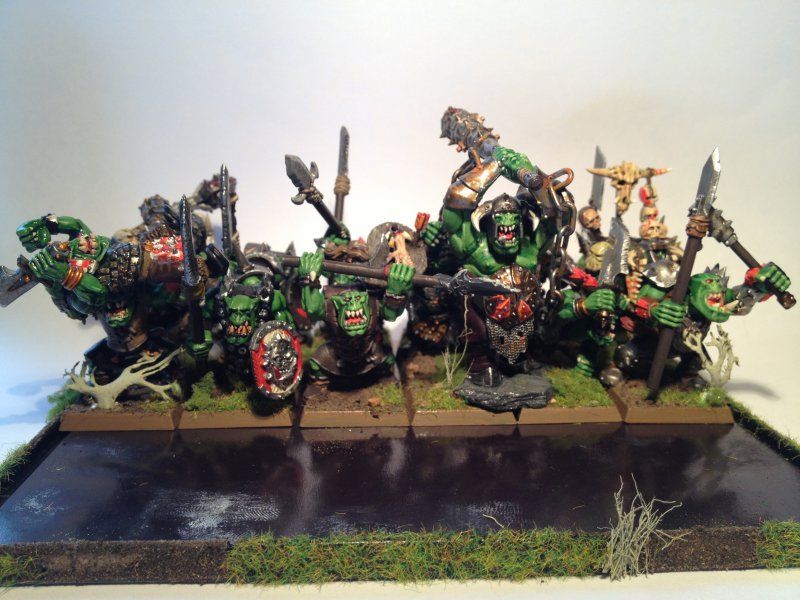 Orc 'Eadbashers with Spear and Shield (and some animosity) Rank 3