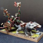 Goblin Witch Doctor on Wolf Chariot