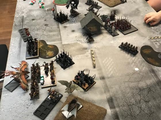 Last Stand 2018 - DE vs HE beginning of DE turn 2