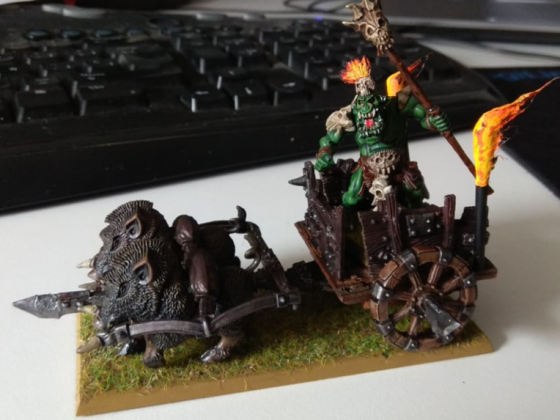 Orc shaman on chariot