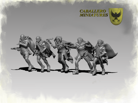 Black Cloaks by Caballero Miniatures
