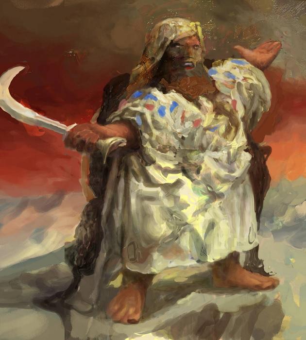 Kegiz Gavem C Proclamation Against Infernal Dwarves Mood Painting  by Igor Levchenko