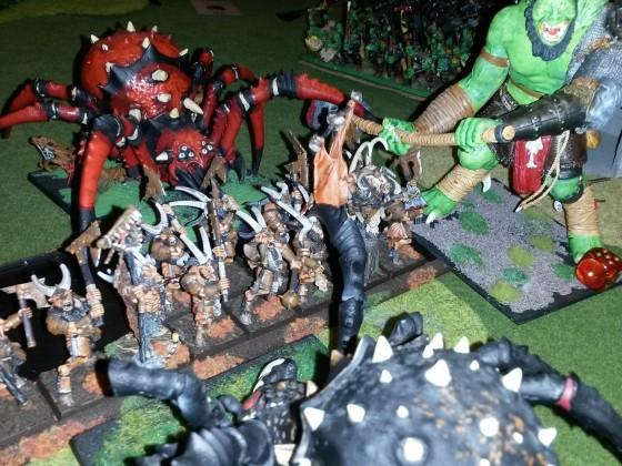 Random battle scenes from the armies of Greentide(KoE, OnG, EoS)