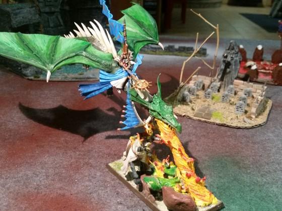 Highborn Mage on Dragon, Fiery Heart
