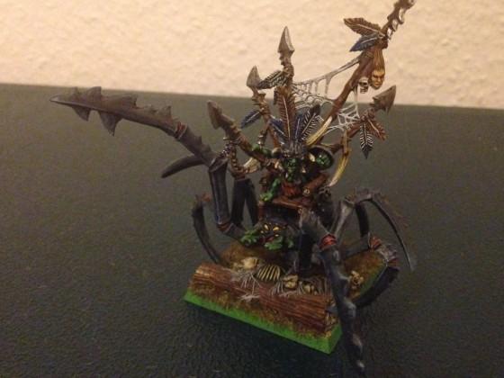 Forest Goblin Chief on Huntsmen Spider