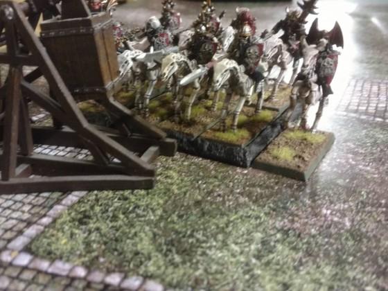 Barrow Knights assaulting a Trebuchet