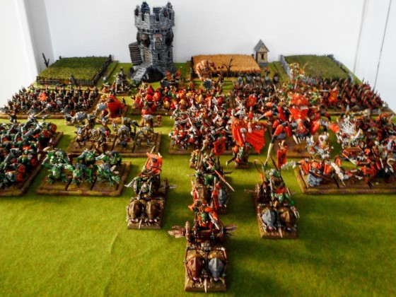 Orcs and goblins - Full army view