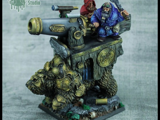 Dwarf Warbear with Cannon