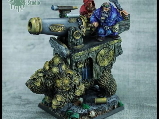 Dwarf Warbear with Cannon