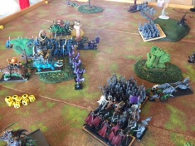 Saurian Ancients vs Dread Elves