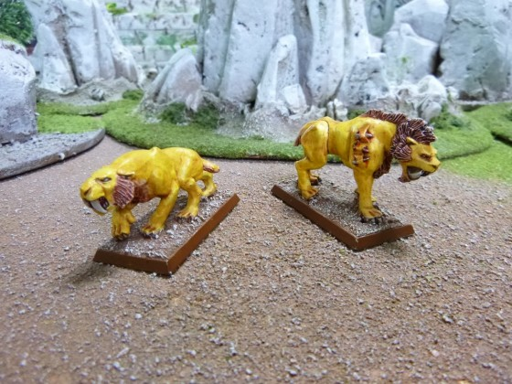 "Pair of Sabretooth Tigers according to Cédric ""Greengoffik"""