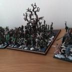 Raiding chariot and longhorn herd