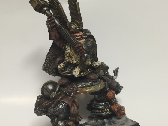Dwarf King painted and converted for me by Iguazzu art studio