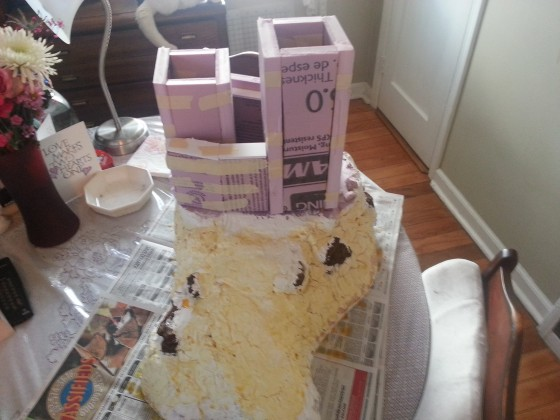 9th Age castle keep and terrain project, scratch-built in Jan.-June, 2016