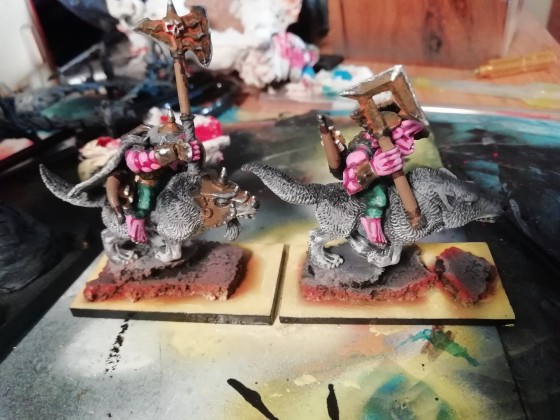 Hobgoblin Chieftain on wolf