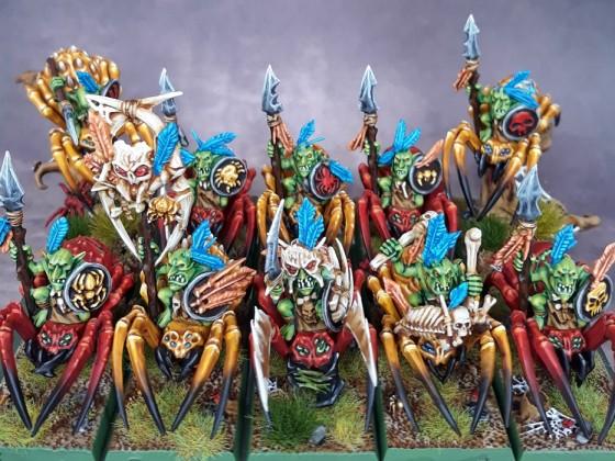 Goblin raiders spiders / Jinetes goblin en araña