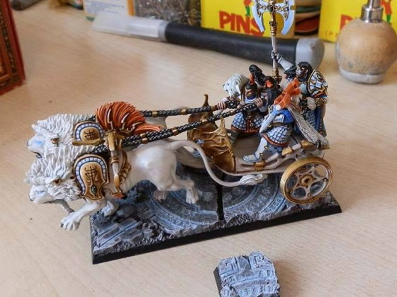 Lion Chariot with High Prince