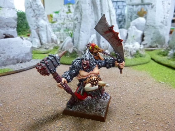 "Ogre Warlord Painted by Cédric ""Greengoffik"""