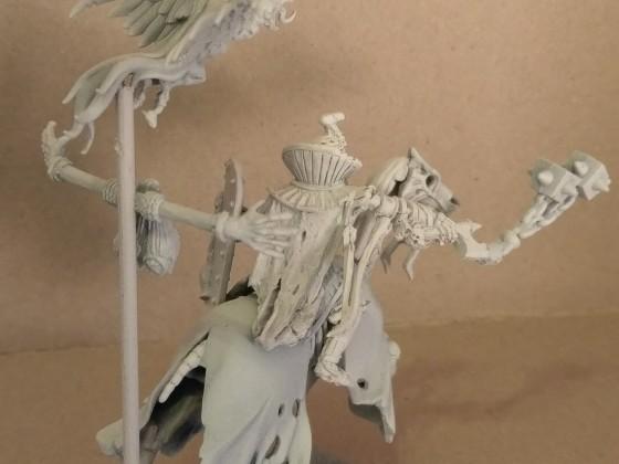 pharaoh on skeleton horse