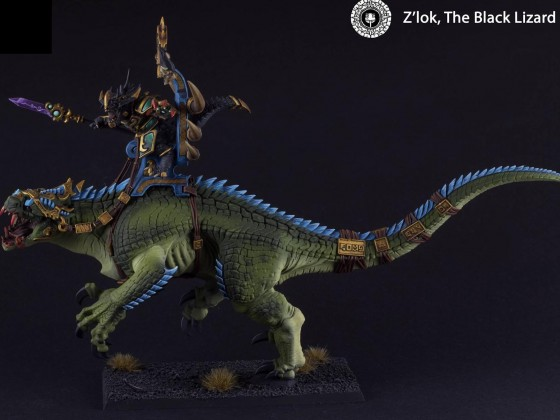 "Z'Loq ""The Black Lizard"", Xokha army General ridding E´Kai"