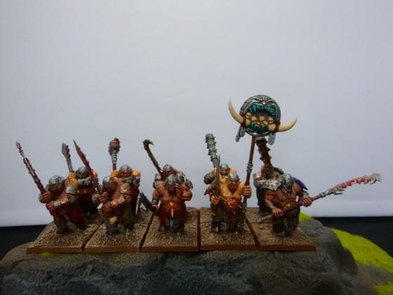 """Unit of Ogre Ironclads Painted by Cédric """"Greengoffik"""""""