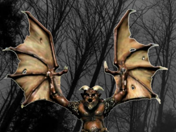 Gargoyle intimating its prey