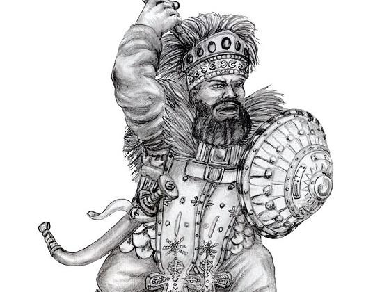Kegiz Gavem Shieldbearer by Paulus Indomitus