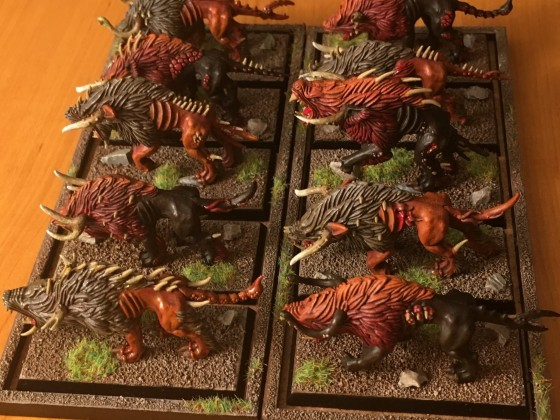 Warhounds in two different colour schemes (R)