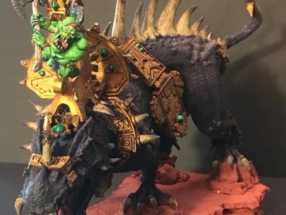Orc lord on Gargantula