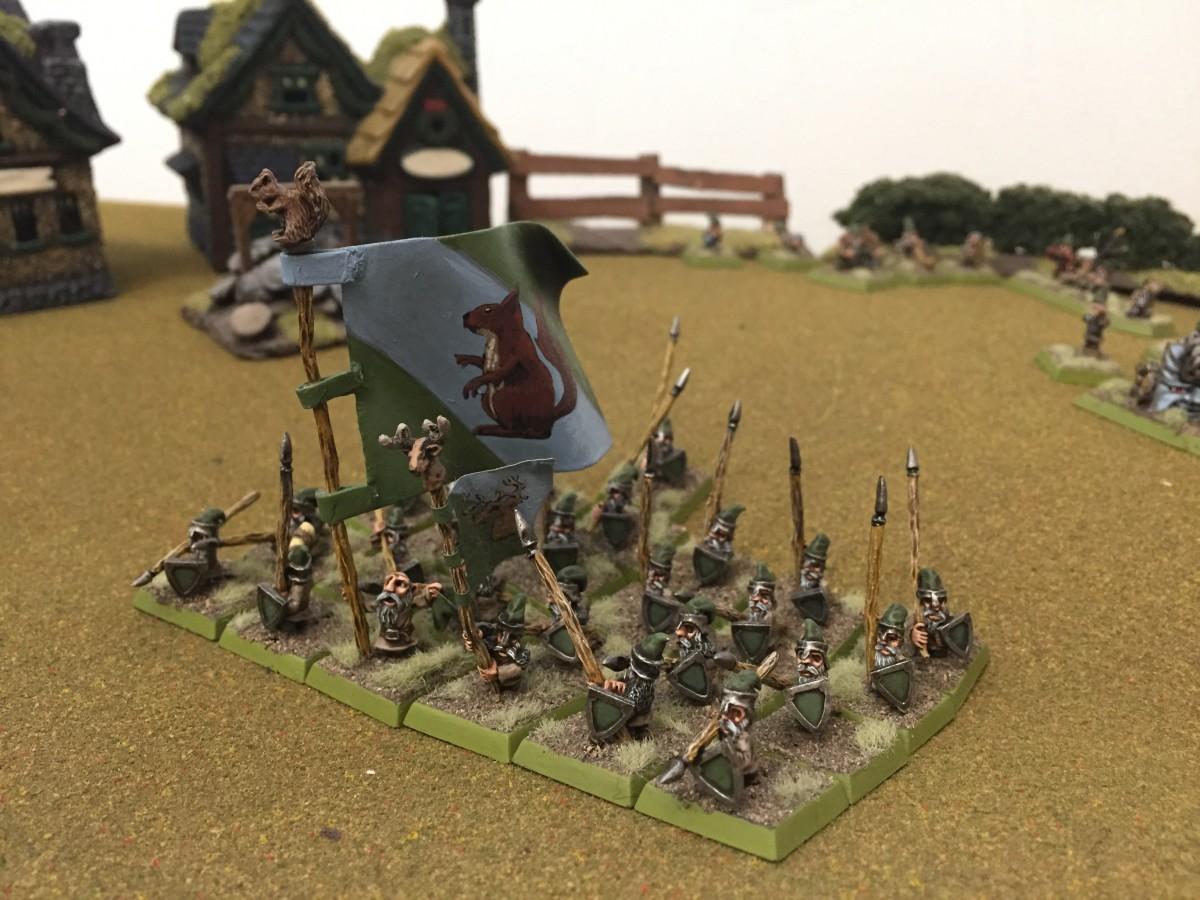 Gnomish Spearmen and Cantonal Squirrel Standard
