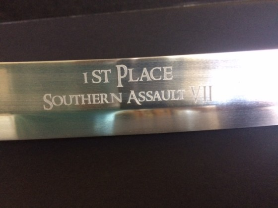 1st Place Award, close-up