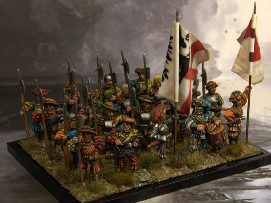 Imperial Heavy Infantry support with halberds