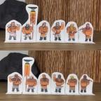 Clan Marksmen Paper Miniatures - Orange