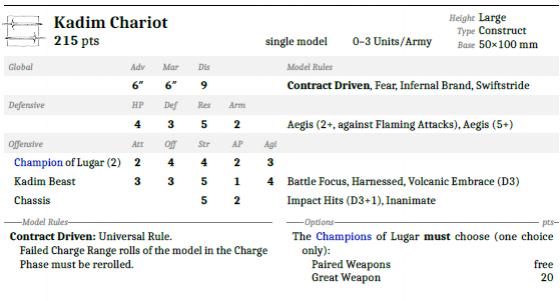 Kadim Chariot Unit