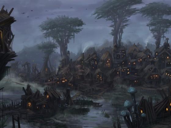 Swamp Goblin Village by Uriak