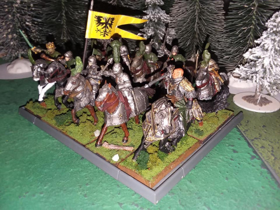 Father Jonas and Prinz Dieterich with the Kingsguard Knights