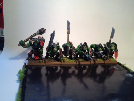 Orc 'Eadbashers with Spear and Shield (and some animosity) Rank 5