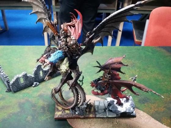 Dragon vs Manticore.