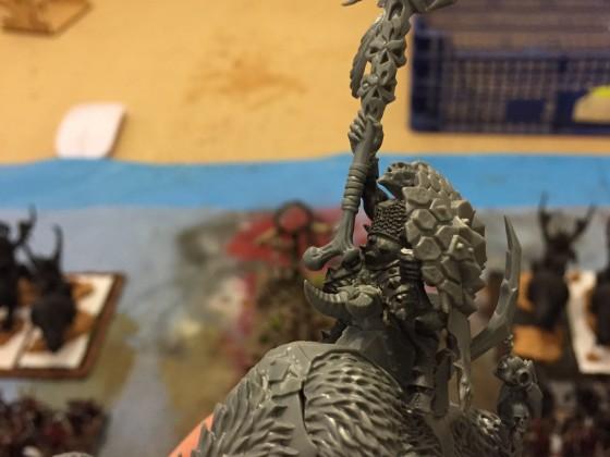 Beast Cheiftain totem bearer on raiding chariot
