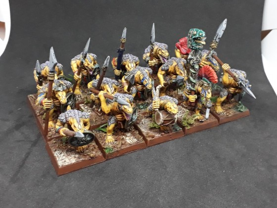 Saurian Warriors with spears