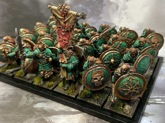 Warriors with Spiked Shields