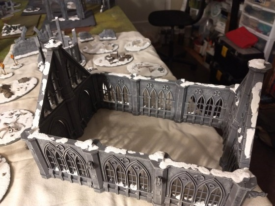 Winter terrain:  Gothic cathedral ruins